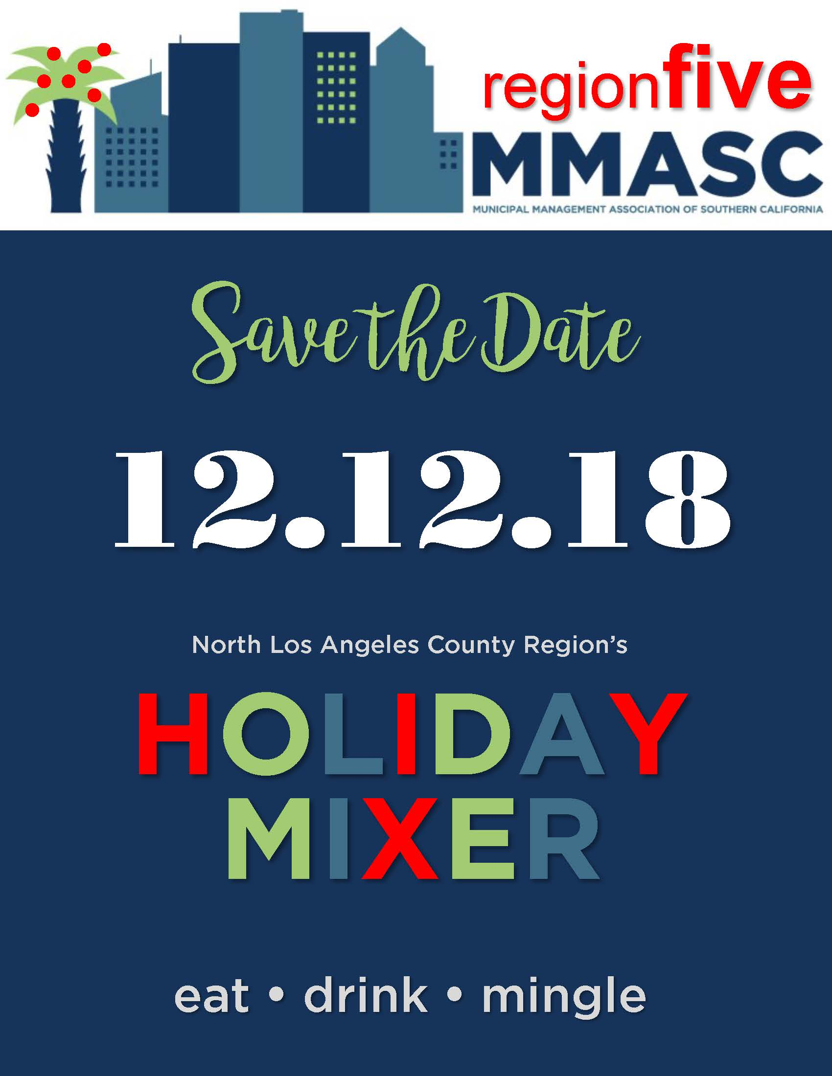 2018 North LA Holiday Mixer Save the Date Flyer